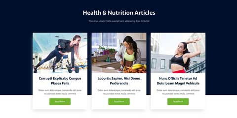 Nutritionist Astra Starter Site - News Section Included
