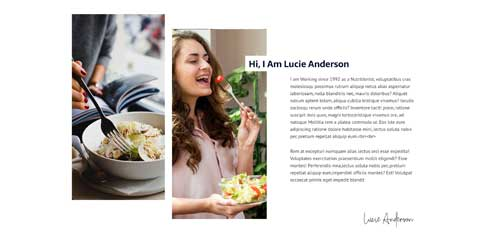 Nutritionist Astra Starter Site - Introduce your nutrition business
