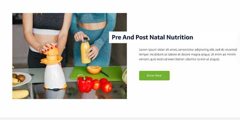 Nutritionist Astra Starter Site - Flexible service pages