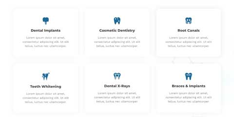 Dentist Astra Elementor Starter Site - Overview of services