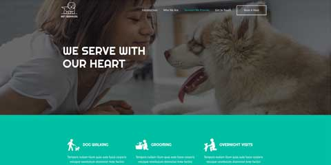 Pet Boarding Astra Starter Site - Detail pages