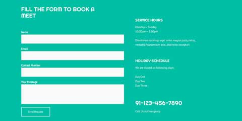 Pet Boarding Astra Starter Site - Booking services