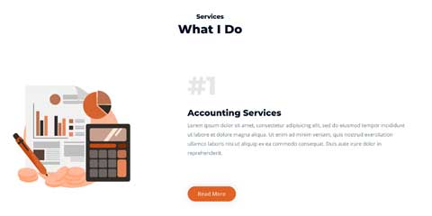 Accountant Astra Starter Site - Clean service overview