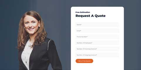 Accountant Astra Elementor Starter Site - Online quote request form
