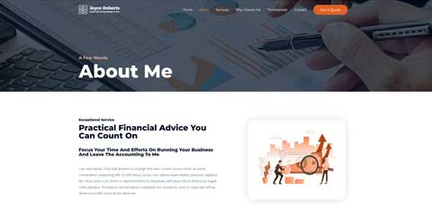 Accountant Astra Elementor Starter Site - Introduce yourself