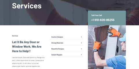 Sliding Doors Astra Starter Site - Attractive service pages