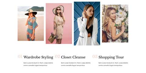 Fashion Blog Astra Elementor Starter Site - Clean service overview