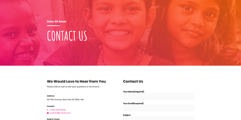 Charity Astra Starter Site - Helpful contact information
