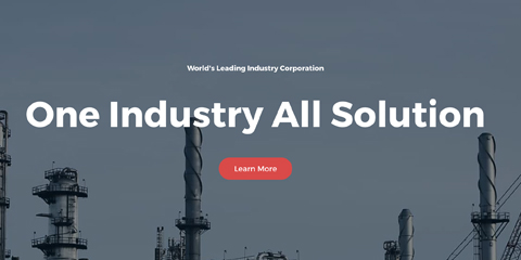 Industry Astra Starter Site - Prominent call-to-actions