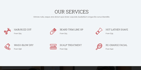 Barber Shop Astra Starter Site - Services overview