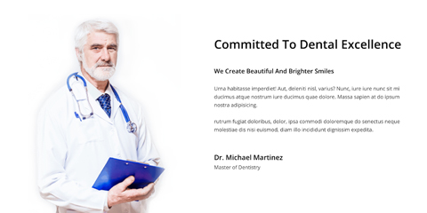 Dental Clinic Astra Starter Site - Introduce yourself