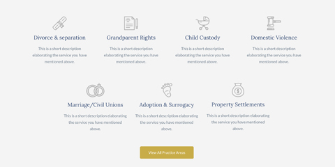 Lawyer Astra Starter Site - Convenient services overview