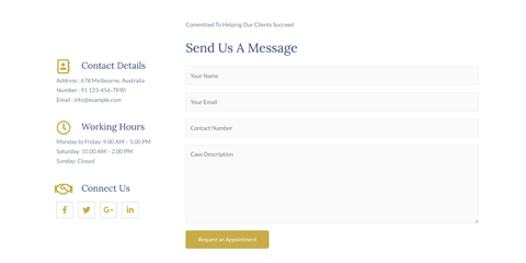 Lawyer Astra Starter Site - Contact options