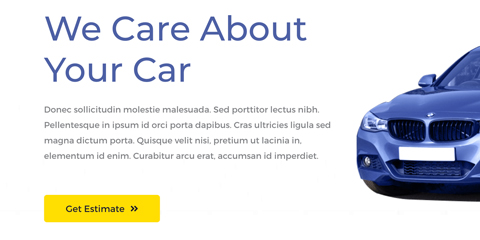 Car Repair Astra Starter Site - Call-to-action on every page
