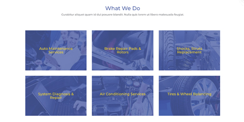 Car Repair Astra Starter Site - Service overview