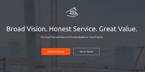 Construction Astra Starter Site - Convincing call-to-actions