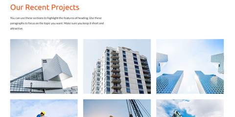 Construction Astra Starter Site - Project portfolio overview