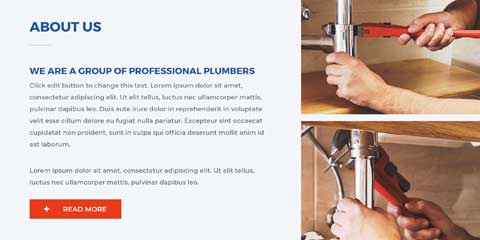 Plumber Astra Starter Site - About section