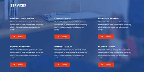 Plumber Astra Starter Site - Clean service overview
