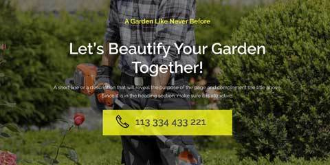 Landscaping Astra Starter Site - Bright calls-to-action