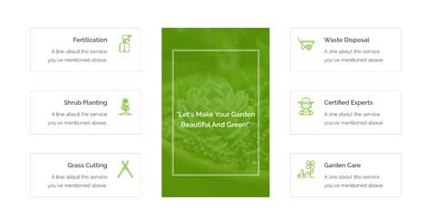 Landscaping Astra Starter Site - Featured services