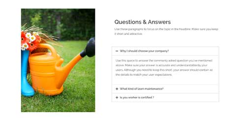 Landscaping Astra Starter Site - Frequently asked questions