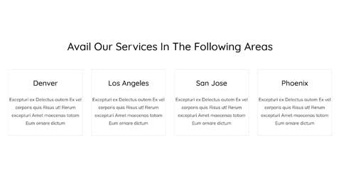 Cleaning Services Astra Starter Site - Service area maps