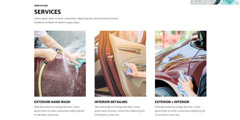 Car Wash Astra Elementor Starter Site - Clean service overview