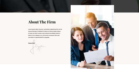 Law Firm Astra Elementor Starter Site - About section