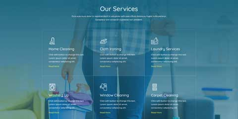 Cleaning Company Astra Elementor Starter Site - Service pages