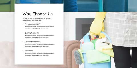 Cleaning Company Astra Elementor Starter Site - Unique Selling Proposition