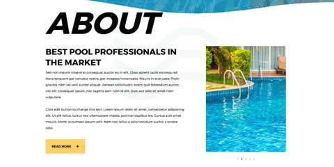 Swimming Pool Astra Starter Site - Introduce your pool company