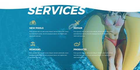 Swimming Pool Astra Starter Site - Service pages