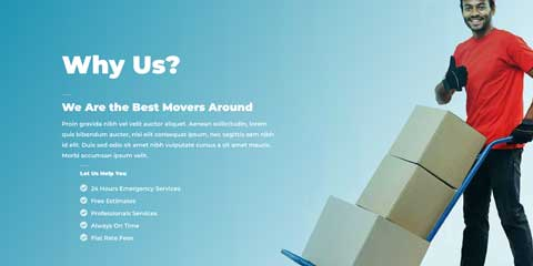 Moving Company Astra Elementor Starter Site - Unique Selling Proposition