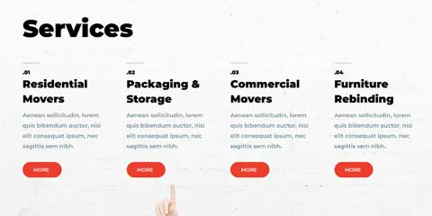 Moving Company Astra Elementor Starter Site - Service pages