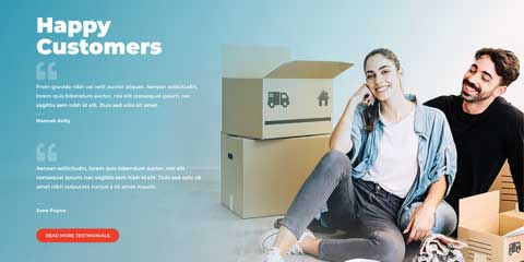 Moving Company Astra Elementor Starter Site - Important trust factors