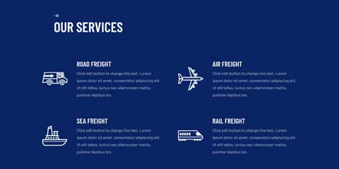 Transport Astra Elementor Starter Site - Services overview