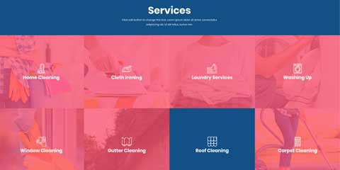 Cleaning Services Astra Elementor Starter Site - Services overview