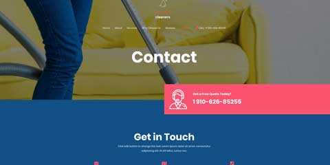 Cleaning Services Astra Elementor Starter Site - Click-to-call Button