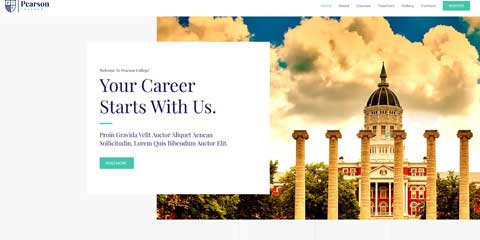 College Astra Starter Site - Prominent call-to-actions