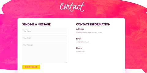 Consultant Astra Starter Site - Contact form