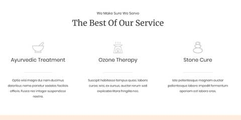 Spa Astra Elementor Starter Site - Highlighted services