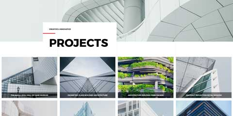 Architecture Firm Astra Elementor Starter Site - Project overview page