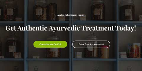 Ayurveda Astra Starter Site - Eye-catching call-to-actions