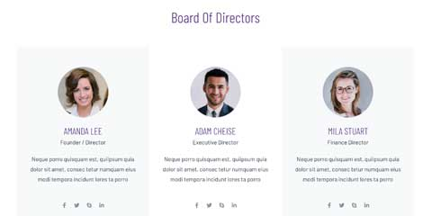 Financial Services Astra Starter Site - Introduce your team
