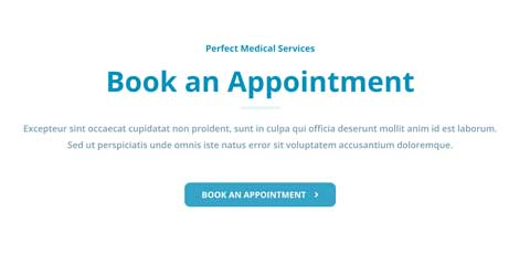 Medical Clinic Astra Starter Site - Clickable call to actions