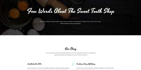 Sweet Shop Astra Starter Site - Introduce yourself