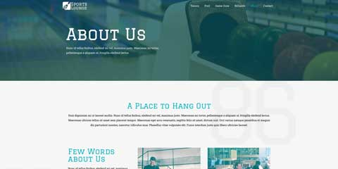 Sports Bar Astra Elementor Starter Site - Introduce yourself