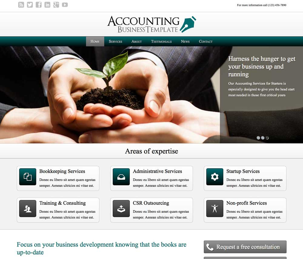 Accounting WordPress Thema - Strak design