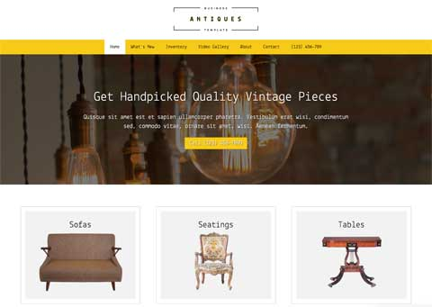 Antiques WordPress Theme - Bright, modern design